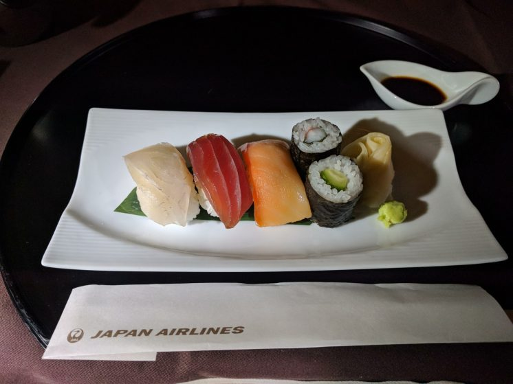 Japan Airlines First Class Sushi