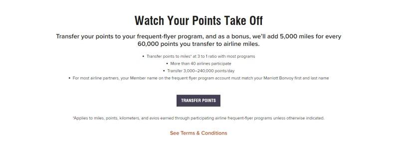 Marriott Bonvoy points transfer to AAdvantage