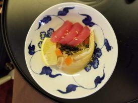 Kelp marinated tuna and sea bream