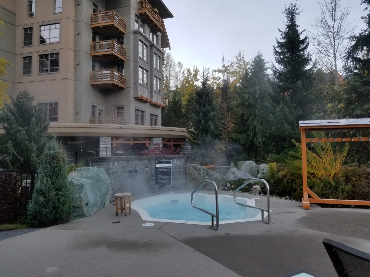 One of the 3 hot tubs