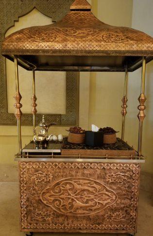 Arabic coffee at the Ritz Carlton Sharq Village