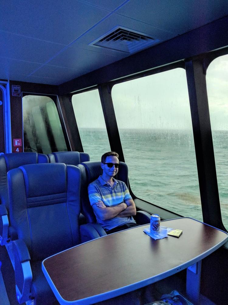 Jason on the Ultramar Ferry