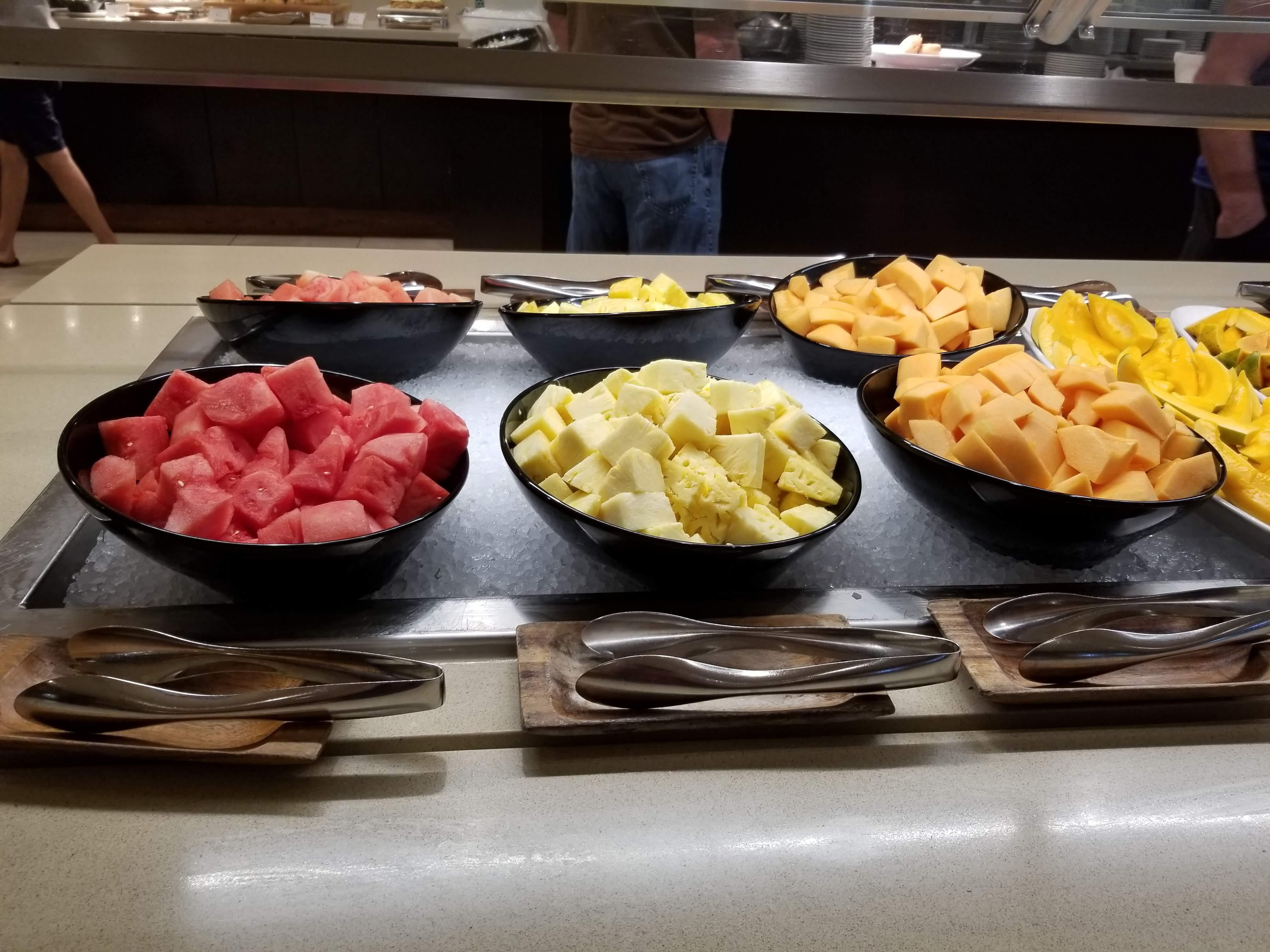 Fresh cut fruit part of the breakfast buffet at the Waikiki Marriott Resort & Spa