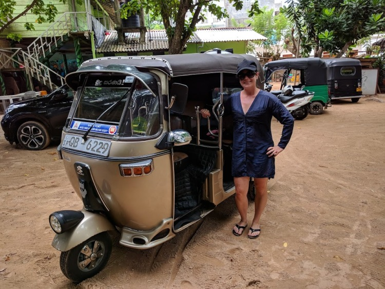 Me with our tuk tuk