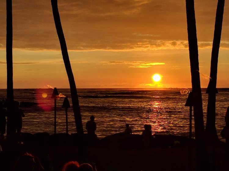 Sunset at the Lava Lava Beach Club