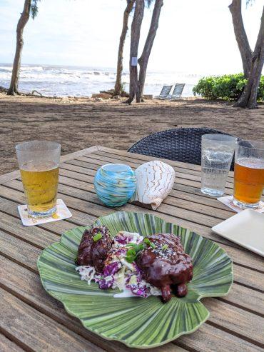 Ribs at Lava Lava Beach Club in Kauai