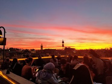 Sunset on the rooftop at Nomad; so many people on their phones!