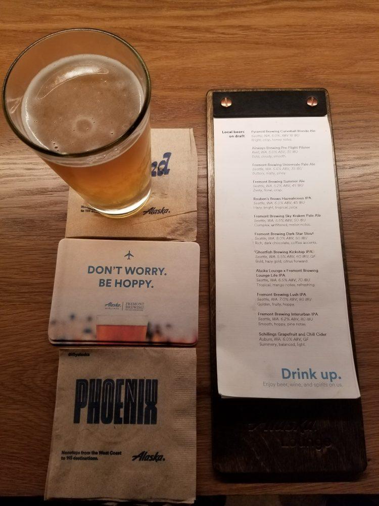 Alaska Lounge N-Gates: Beer list and Fremont Lounge Life IPA