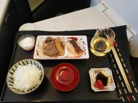 JAL 787 Business Class Japanese Meal