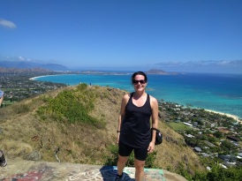 Max at the top of the Lanikai Pillbox Hike