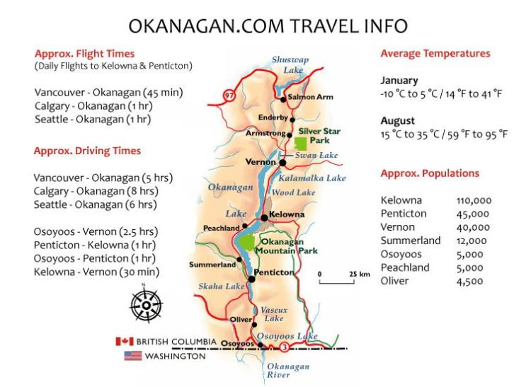 Map of the Okanagan