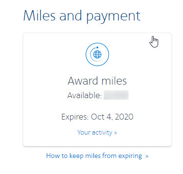 Maxine's AAdvantage Wallet with miles expiry