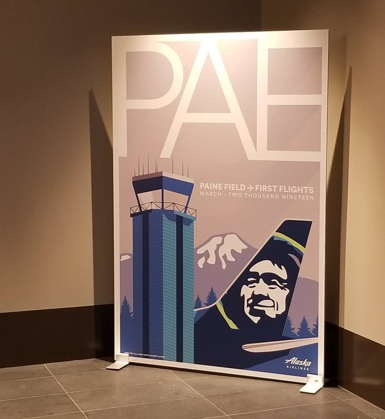 Alaska Airlines PAE sign