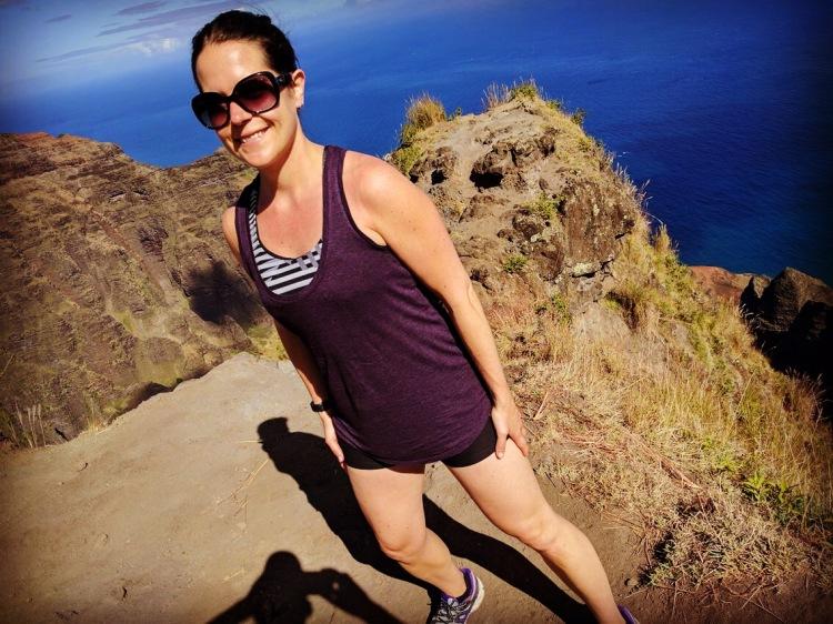 Me at the end of the Awa'awapuhi Trail in the Koke'e State Park, Kauai