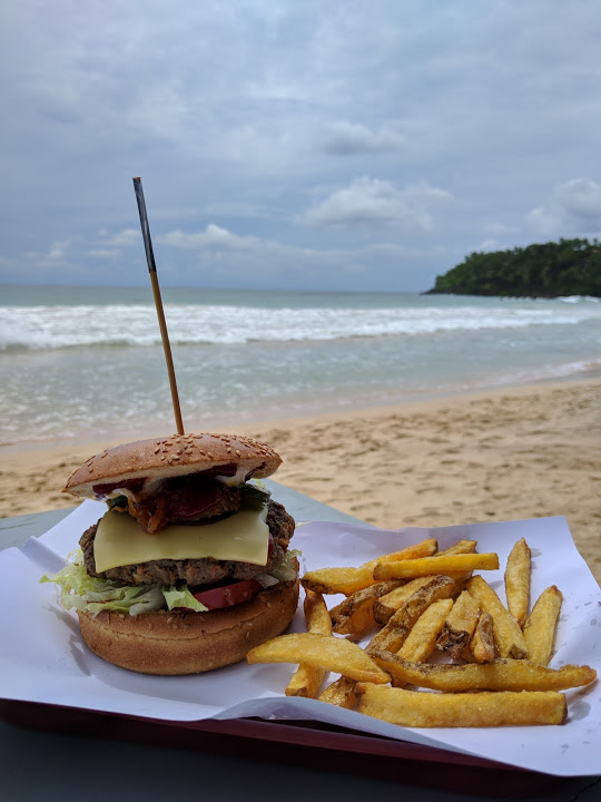 Gringo burger from The Original Rocket Burger at Mirissa Beach