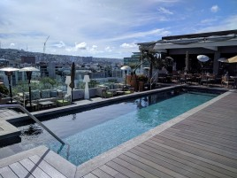 The rooftop pool at the K Tower Boutique Hotel