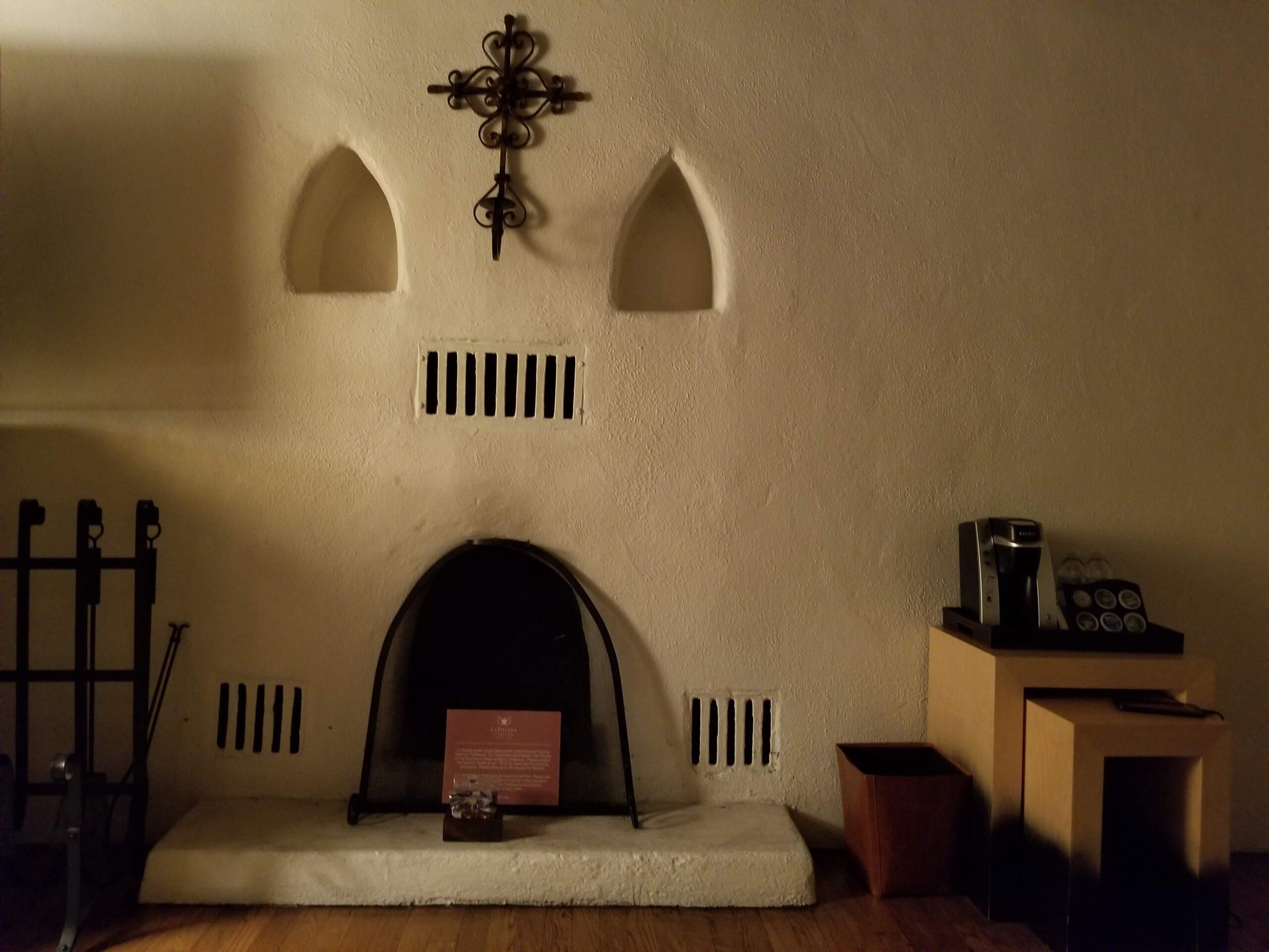 Fireplace at La Posada de Santa Fe, a Tribute Portfolio Resort & Spa