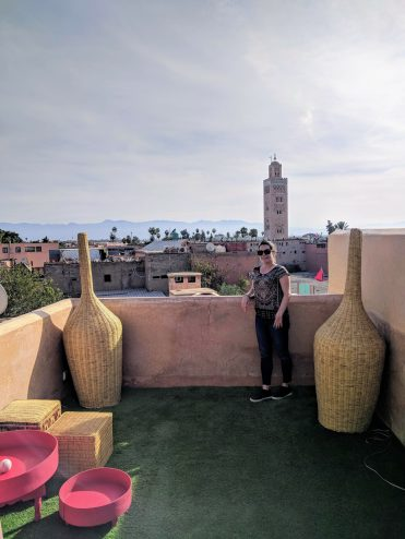 Max at the rooftop El Fenn Bar