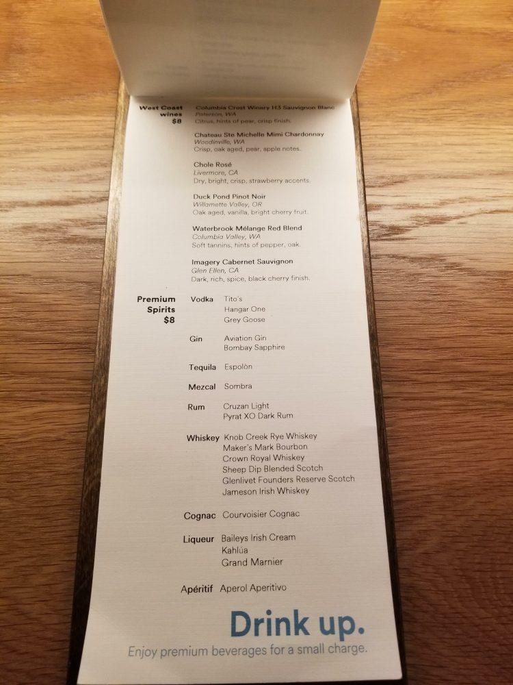 Alaska Lounge N-Gates: Premium Drinks List