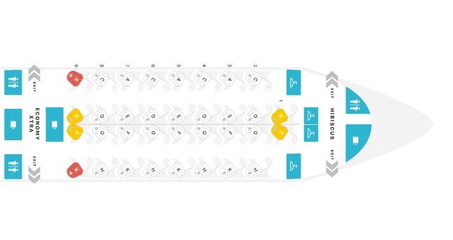 Seat Map on TAP Air Portugal's A330neo courtesy of Seat Guru