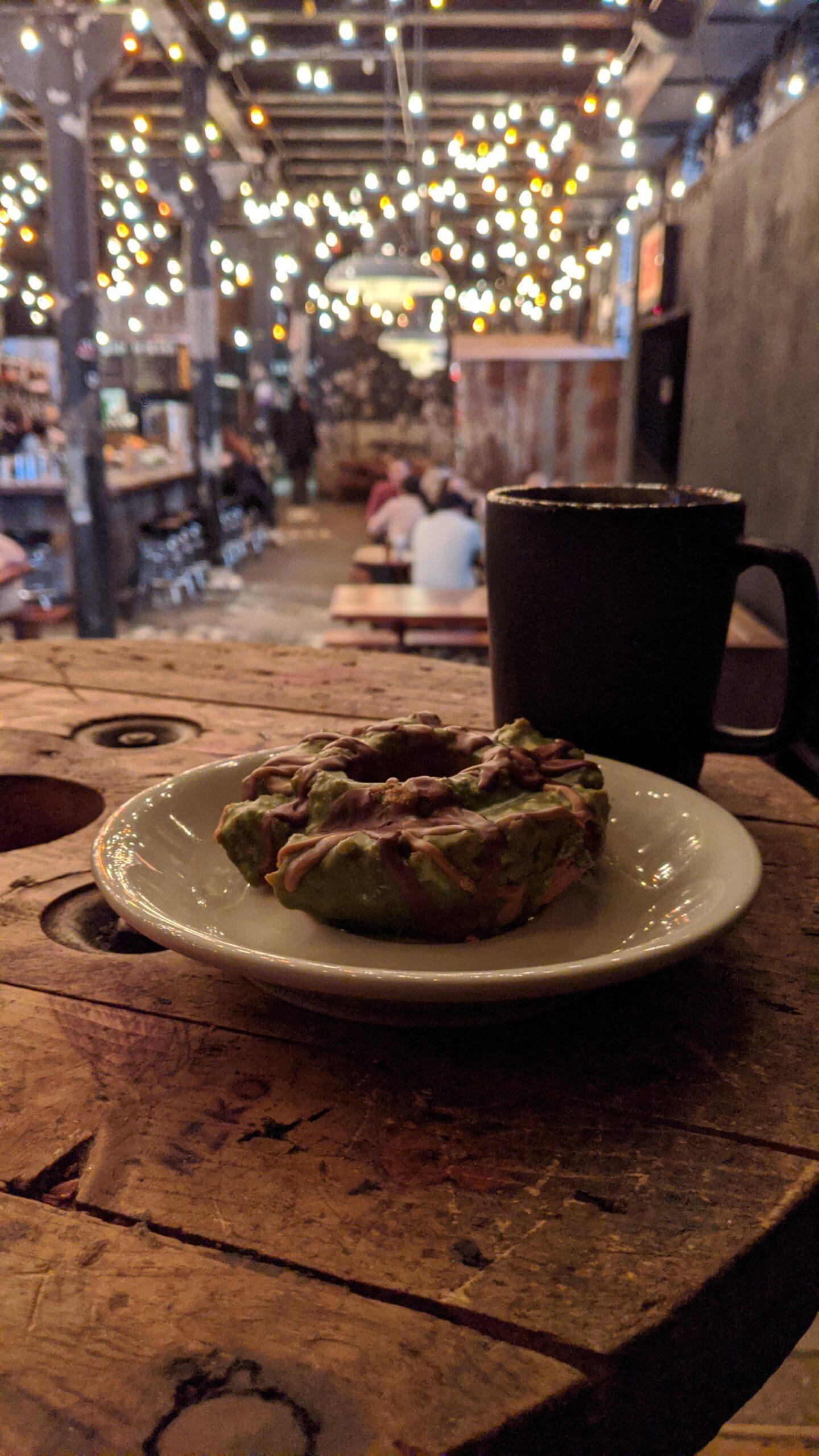 Coffee and Military Donut at Sawada Coffee