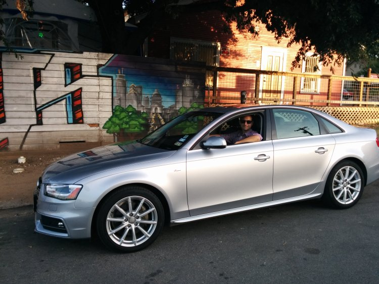 Jason in an Audi A4 from Silvercar
