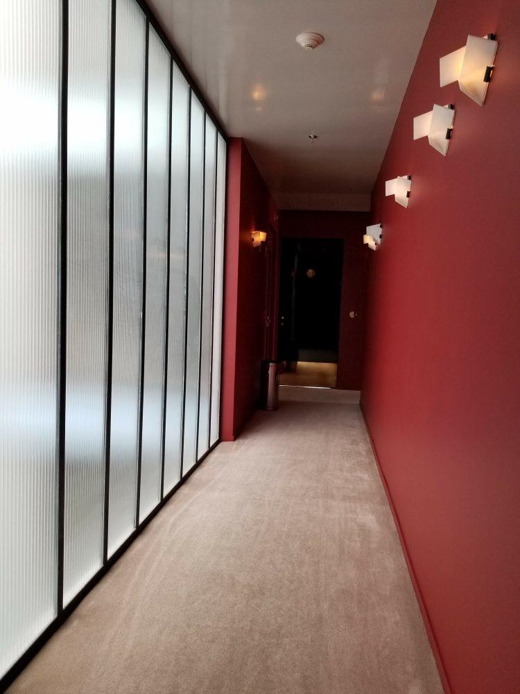 Hallways at Casa Habita in Guadalajara