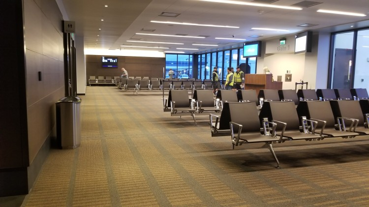 Seating by the gate