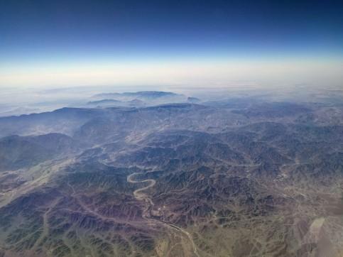 Flying over Oman