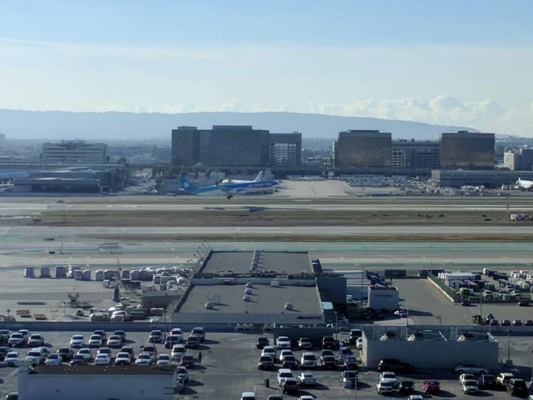 View from the lounge at the LAX Marriott