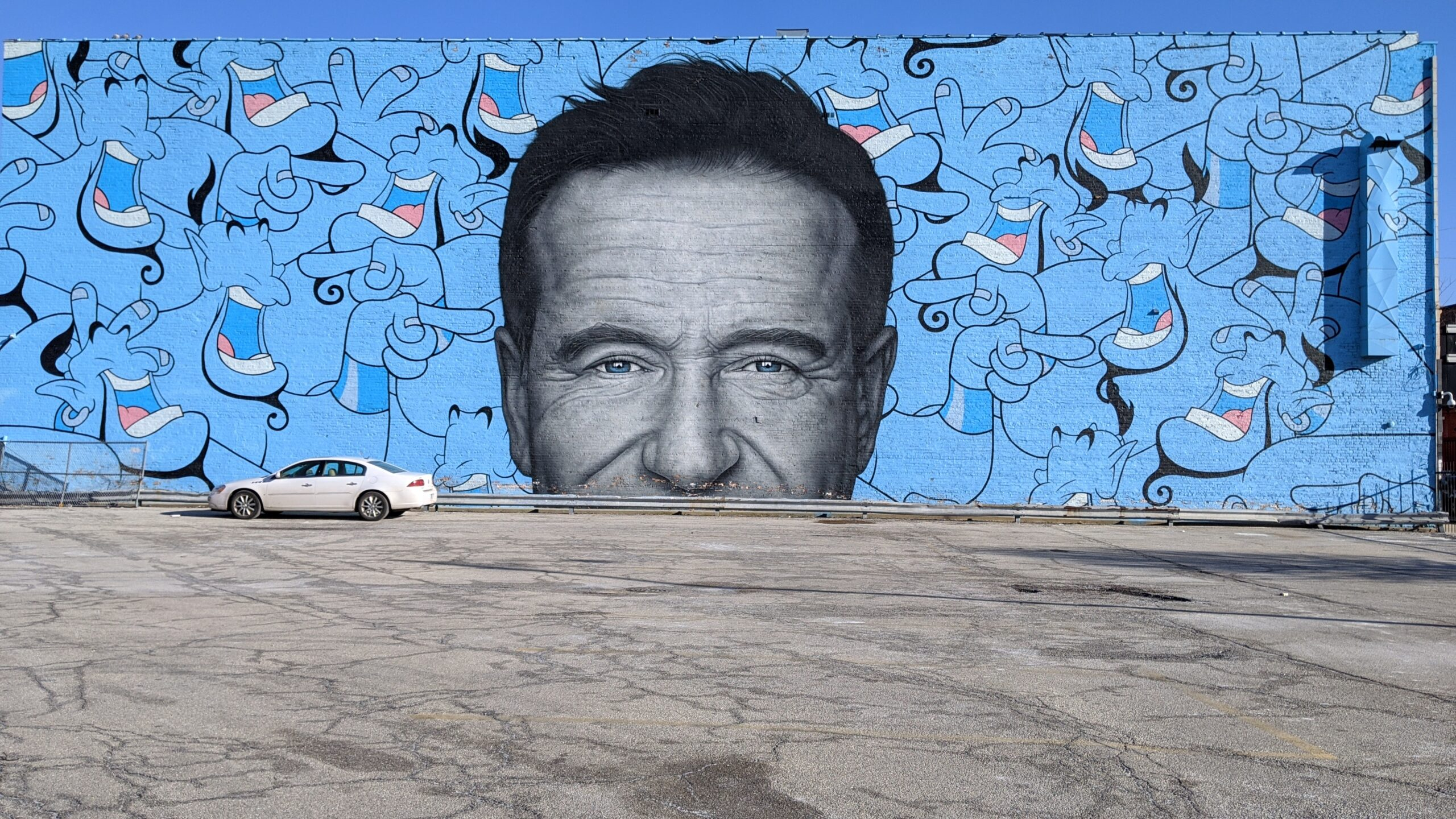 Robin Williams and Genie Mural in Chicago