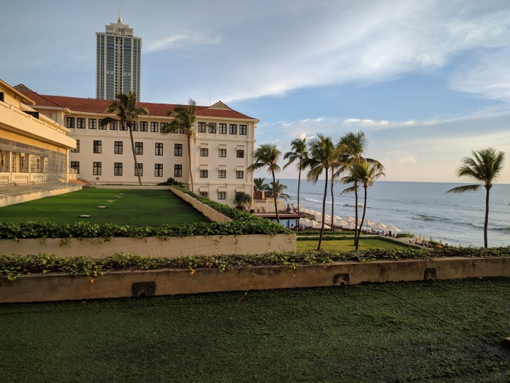 Yard at the Galle Face Hotel
