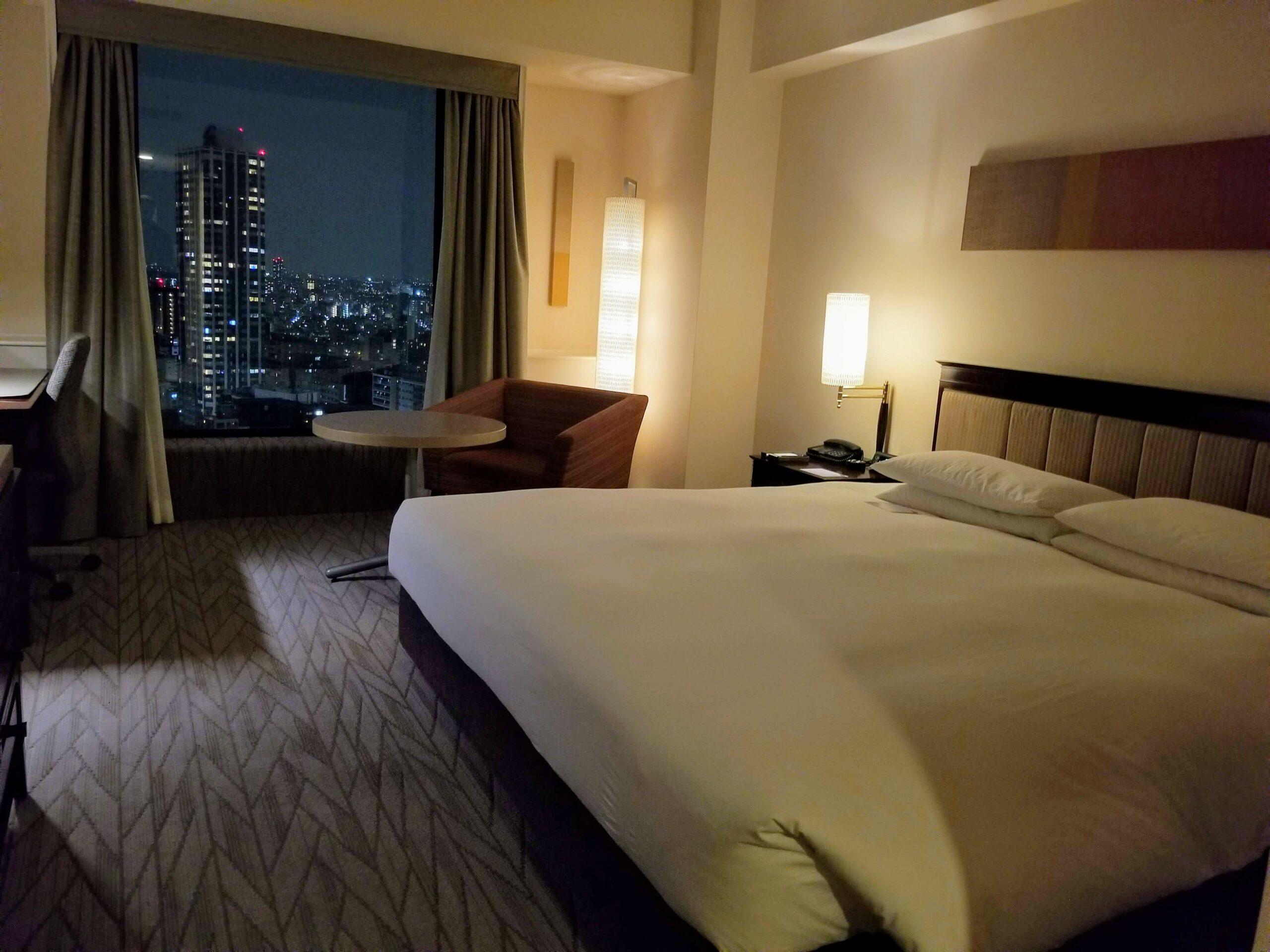 Our room at the Hyatt Regency Tokyo