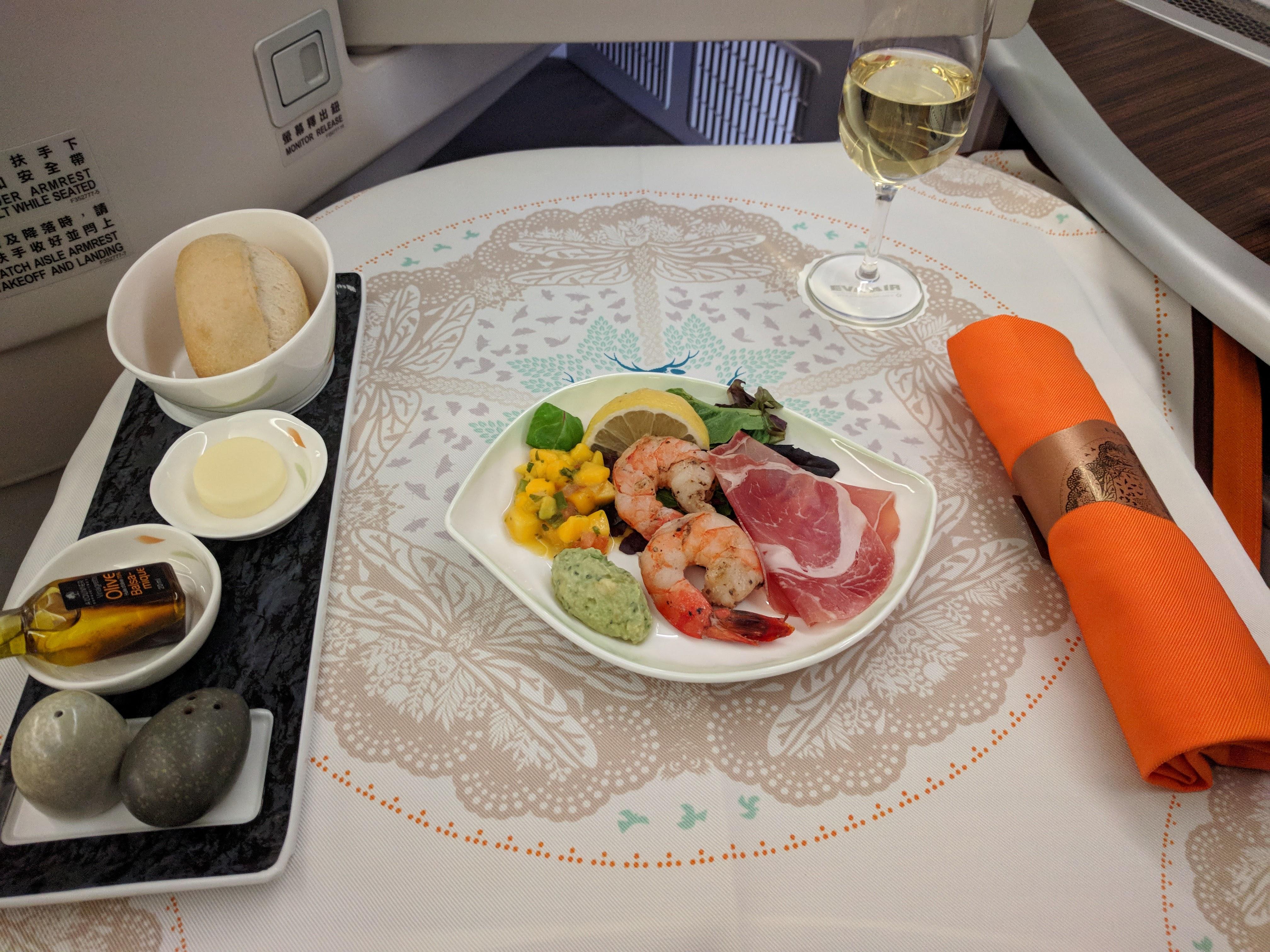 Royal Laurel Class appetizer