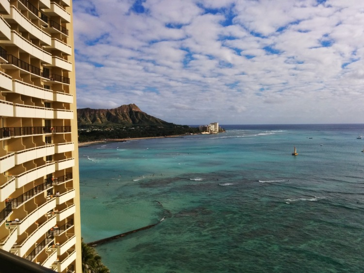 View from our room at the Sheraton Waikiki