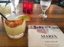 "Lonn Taylor's ""Marfa for the Perplexed"" and a margarita from the bar at Hotel Saint George"