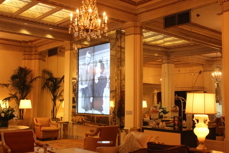 The lobby at Hotel DeLuxe