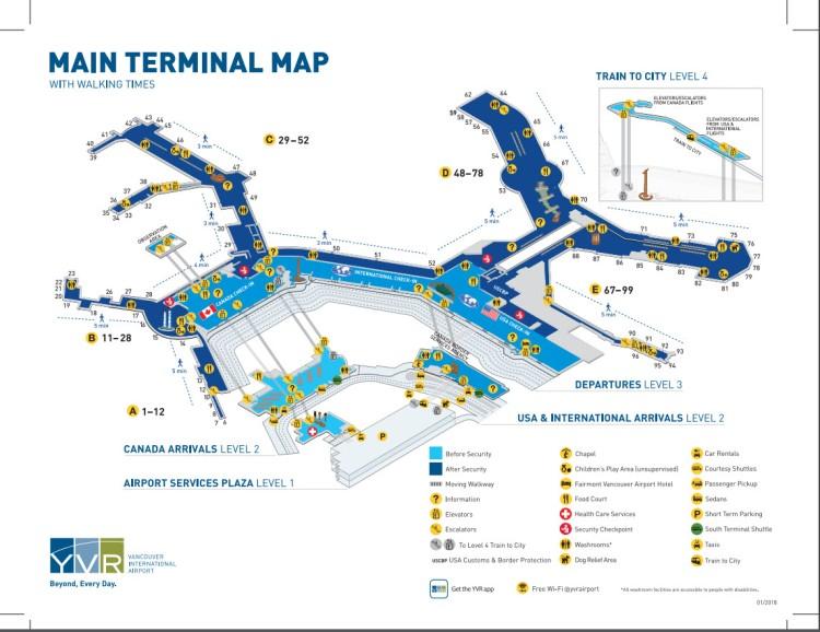 YVR Main Terminal Map