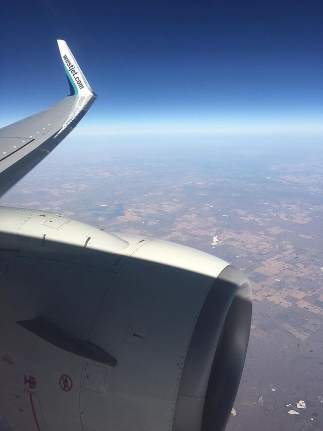 WestJet view from the wing
