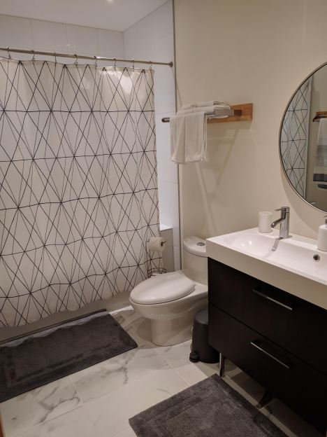 Bathroom in the Owl Suite at Farmersdotter