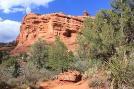 Hiking through a canyon trail in Sedona
