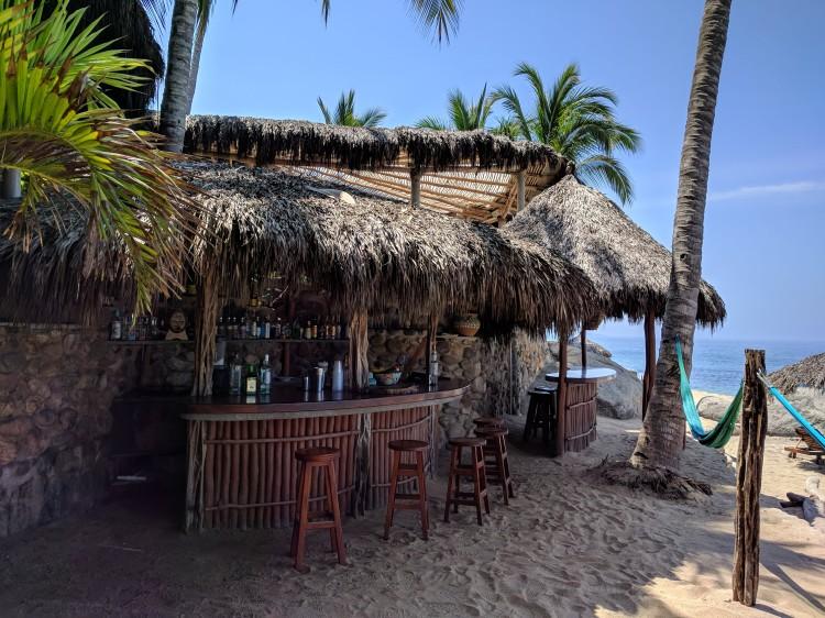 The beach bar at Playa Escondida