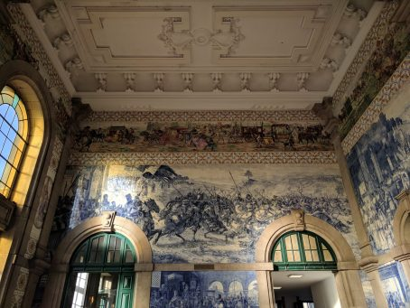 The stunning Sao Bento Train Station: also home to some 20,000 tiles