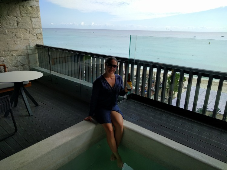 Balcony and plunge pool in a suite at the Grand Hyatt Playa del Carmen