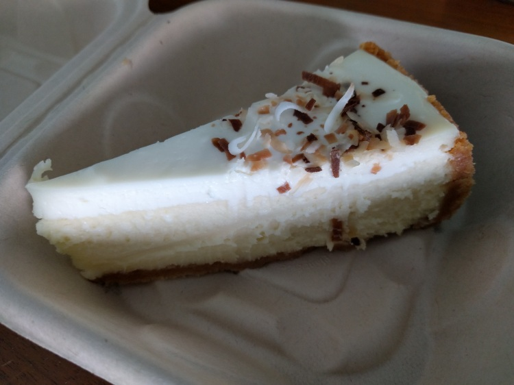 Coconut cheesecake from Otto Cake