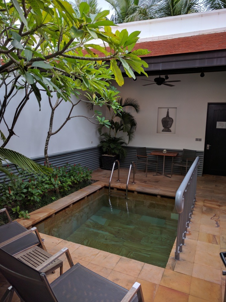 Park Hyatt Siem Reap Pool Suite: view of the pool from the room