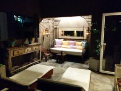 Poetry Building: Terrace Suite 5A: Upper patio