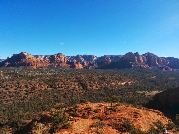 View of red rocks in Sedona