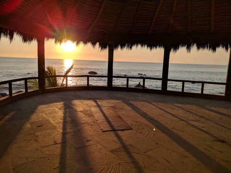 The yoga terrace at Playa Escondida