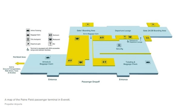 PAE - Paine Field Terminal Map